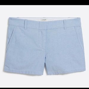 J.Crew Blue Shorts Chambray Oxford